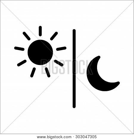 Sun And Moon Flat Icon. Sign Sun And Moon. Vector Logo For Web Design, Vector Illustration Eps10. Is