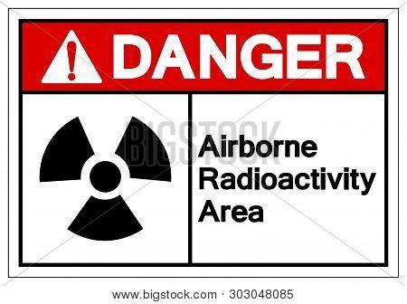 Danger Airborne Radioactivity Area Symbol Sign, Vector Illustration, Isolate On White Background Lab