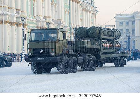 Saint Petersburg, Russia - January 24, 2019: Transport Vehicle