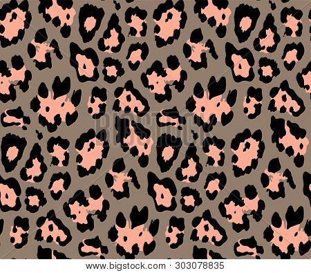 Seamless Leopard Skin Pattern For Textile Print For Printed Fabric Design For Womenswear, Underwear,