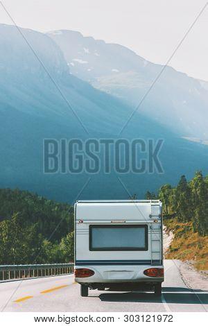 Travel Rv Trailer Camper Road Trip Vacations In Norway Summer Family Journey Van Life Weekend Carava