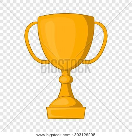 Golden Trophy Cup Icon. Cartoon Illustration Of Golden Trophy Cup Vector Icon For Web