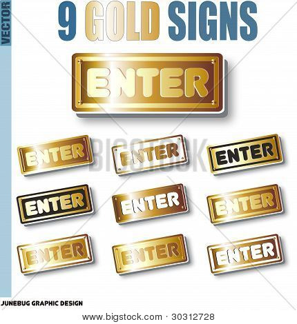 Gold-sign-vector