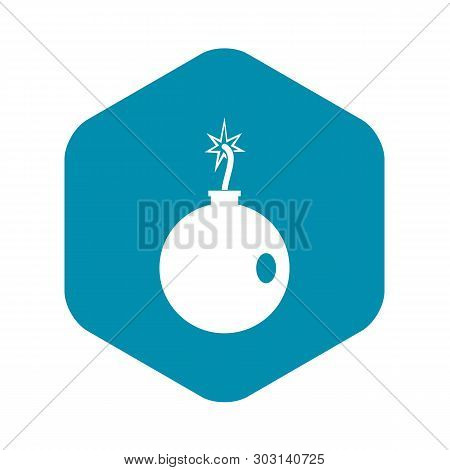 Cannonball Icon. Simple Illustration Of Cannonball Vector Icon For Web