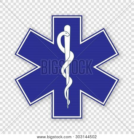 Medical Symbol Of The Emergency - Star Of Life