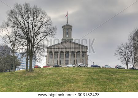 Nashville,tennessee/united States - January 10: View Of Tennessee State Capitol Building In Nashvill