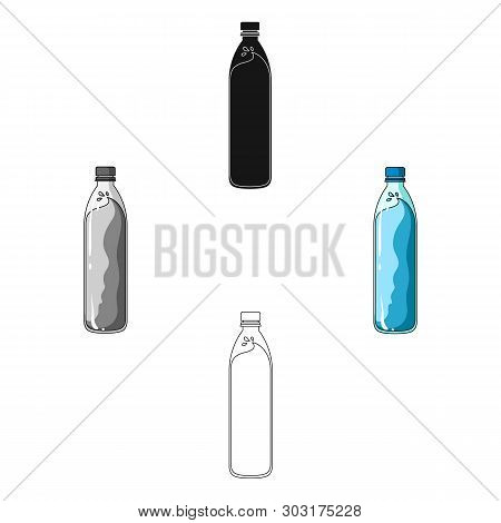 A bottle of water. Water to cool the bicyclist while riding.Cyclist outfit single icon in cartoon, black style vector symbol stock illustration. poster