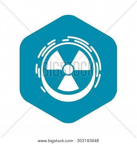 Radiation Sign Icon. Simple Illustration Of Radiation Sign Vector Icon For Web Design Isolated On Wh