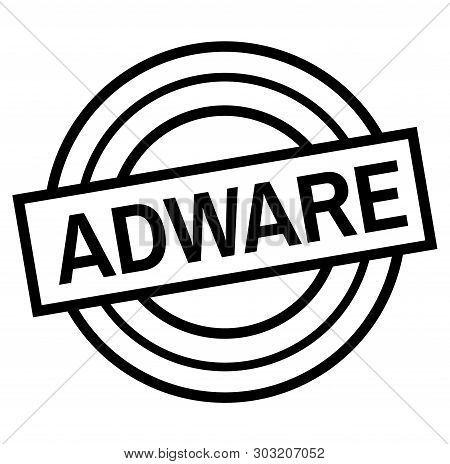 Adware Stamp On White. Stamps And Labels Series.