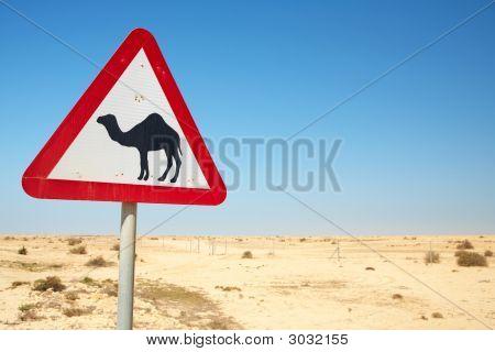Camel Warning Sign