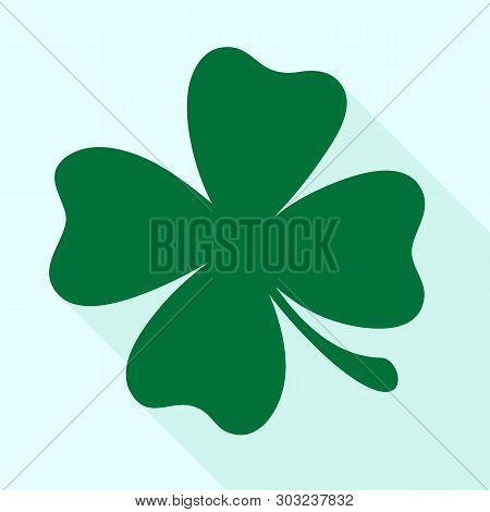 Green Shamrock Clover Vector Icon. St Patrick Day Symbol, Leprechaun Leaf Sign. Shamrock Clover Isol