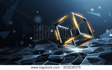 Blockchain On A Data Computation Layer - 3d Rendering