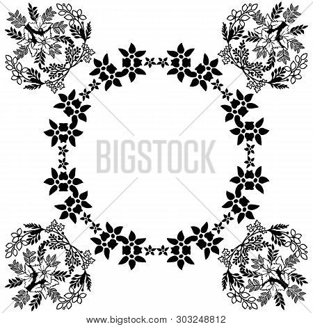 Vector Illustration Blossom Flower Frame For Invitation Card
