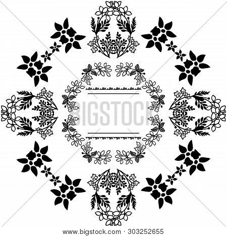 Vector Illustration Wallpaper Floral Frame With Background On A White