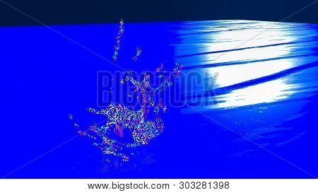 3D Illustration Of  Abstract Splash