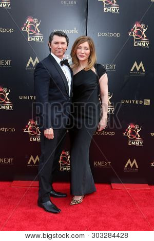 LOS ANGELES - MAY 5:  Lou Diamond Phillips, Yvonne Boismier Phillips at the 2019  Daytime Emmy Awards at Pasadena Convention Center on May 5, 2019 in Pasadena, CA