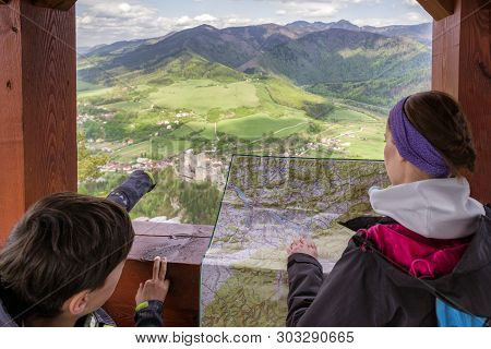 View From Lookout Spicak On Strecno Castle And Slovak Country