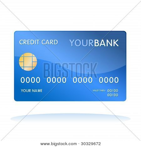 credit card isolated