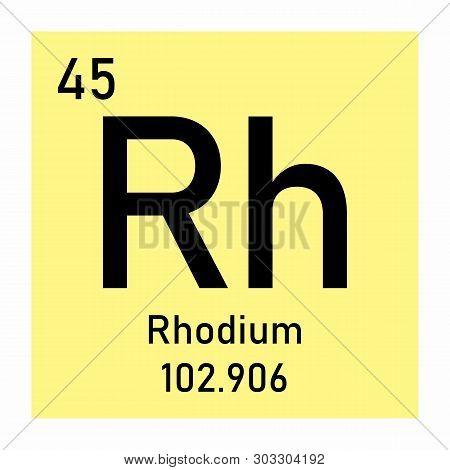 Illustration Of The Periodic Table Rhodium Chemical Symbol