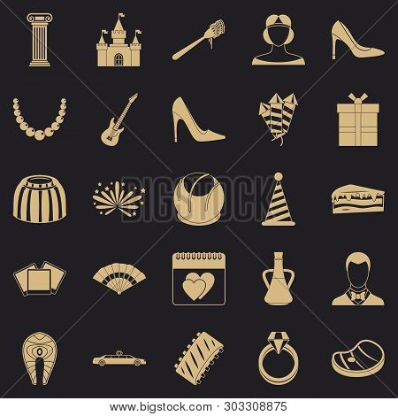 Regale Icons Set. Simple Set Of 25 Regale Vector Icons For Web For Any Design