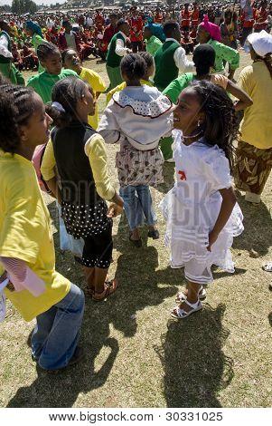 Ethiopian Children Dancing