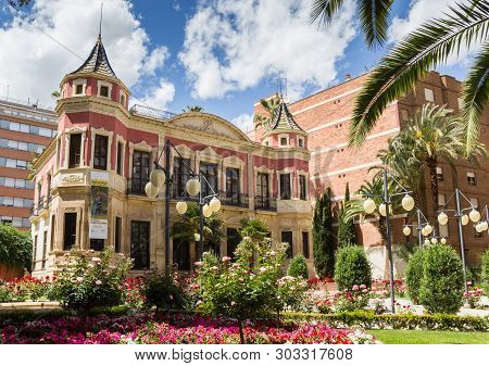 Lorca, Spain - May 09, 2019: Huerto Ruano Palace In Historic City Lorca, Spain