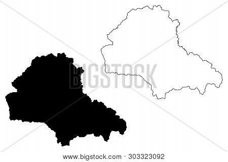 Brasov County (administrative Divisions Of Romania, Centru Development Region) Map Vector Illustrati