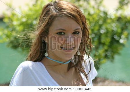 Image of a teenage girl at the park