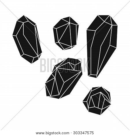 Vector Illustration Of Granules And Salty Sign. Set Of Granules And Grains  Stock Symbol For Web.