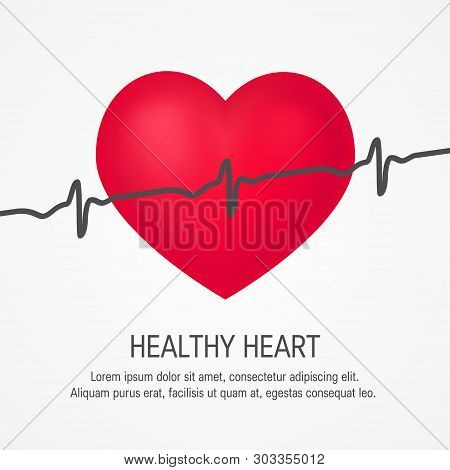 Realistic 3d Pulsating Heart. Vector Template For Cardiovascular Health Designs
