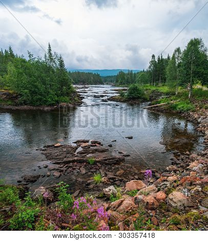 Namsen Is One Of The Longest Rivers In Trondelag County, In The Central Part Of Norway And A Favorit