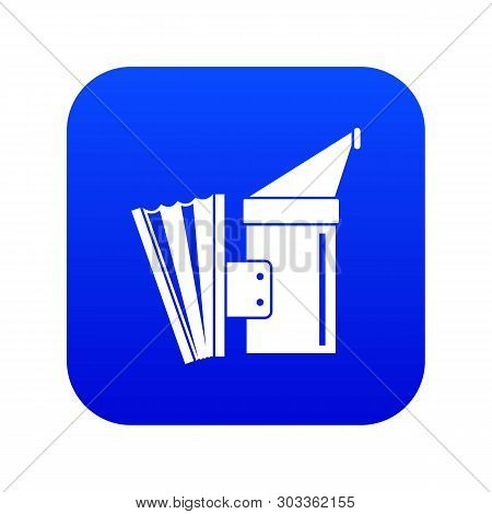 Fumigation Icon Digital Blue For Any Design Isolated On White Vector Illustration