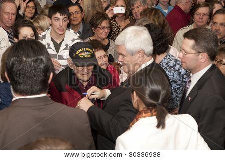 Newt meets Korean war veteran.