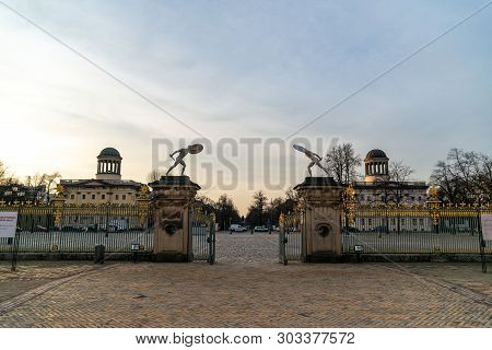 Berlin, Germany. February 19, 2019. Charlottenburg Palace Is The Largest Palace In Berlin.