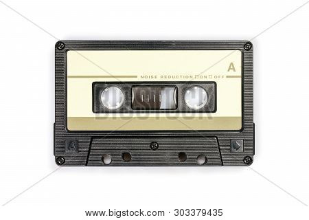 Audio Compact Cassette. Analog Tape Format For Audio Playing And Recording. Audio Cassette Isolated