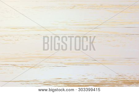 Vector Realistic Wooden Background Rustic A Table