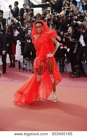 CANNES, FRANCE. May 21, 2019: Winnie Harlow at the gala premiere for