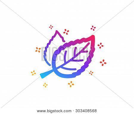 Leaves Icon. Nature Plant Leaf Sign. Environmental Care Symbol. Dynamic Shapes. Gradient Design Leaf