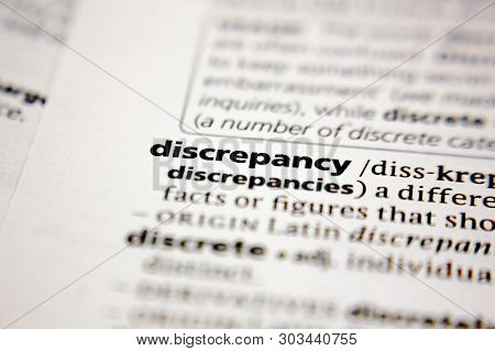 Word Or Phrase Discrepancy In A Dictionary.