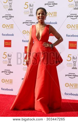 LOS ANGELES - MAR 30:  Meta Golding at the 50th NAACP Image Awards - Arrivals at the Dolby Theater on March 30, 2019 in Los Angeles, CA