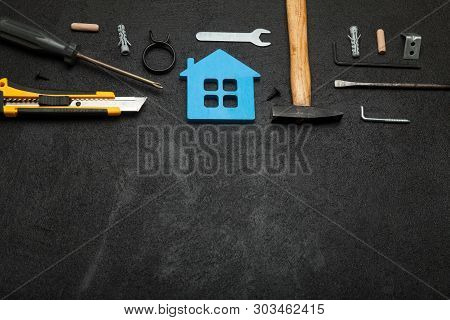 Hardware Home Repair, Building Service. Copy Space For Text.