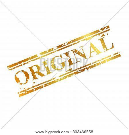 Vector Original, Golden Streak Red Rubber Stamp