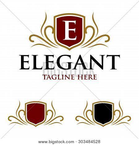Elegant Shield Crest Logo Template Illustration Design