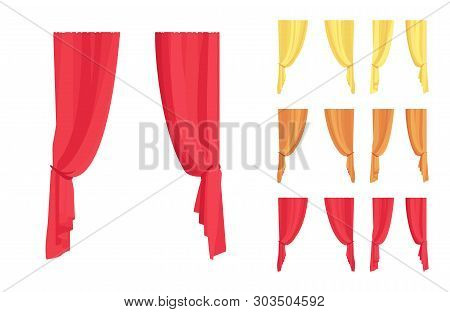 Curtain And Drapery Set. Blackout Fabric Panels For Bedroom, Living Room, Window Drapes Elegant Home