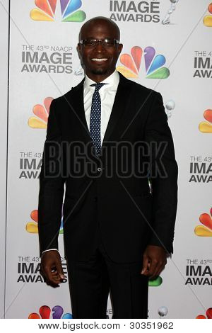 LOS ANGELES - FEB 17:  Taye Diggs arrives at the 43rd NAACP Image Awards at the Shrine Auditorium on February 17, 2012 in Los Angeles, CA.