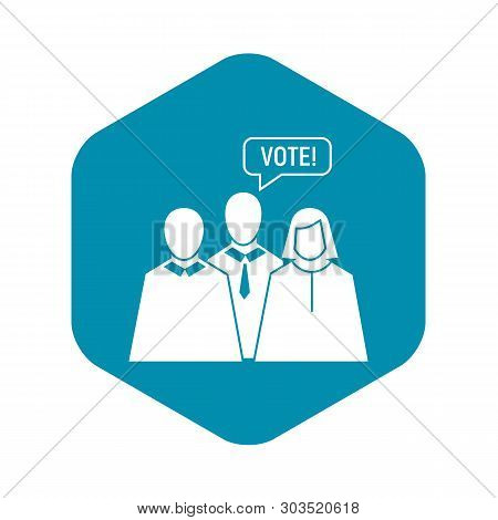 Vote Oratory Icon. Simple Illustration Of Vote Oratory Vector Icon For Web Design Isolated On White