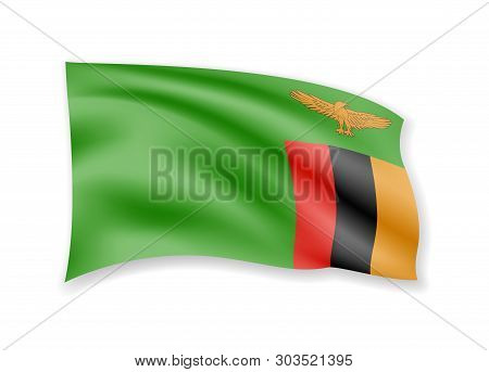 Waving Zambia Flag On Vector & Photo (Free Trial) | Bigstock