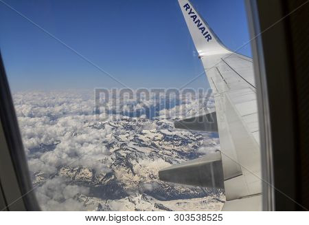 Ryanair Flight To London Stansted Airport