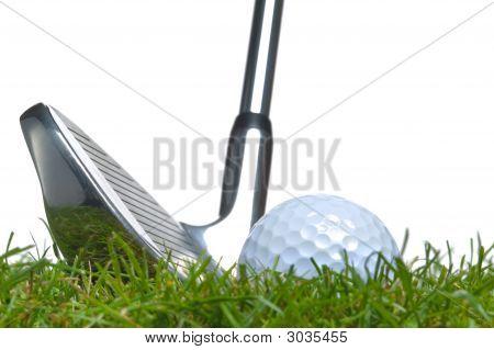 Golf Ball Rough Iron Shot