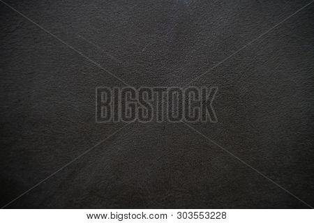 Black Genuine Cowhide Art Texture Luxury Background